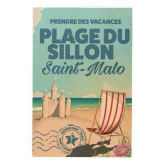 Saint-Malo, France travel poster