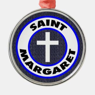 Saint Margaret Metal Ornament