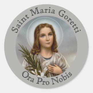 Saint Maria Goretti Lily Girl Classic Round Sticker