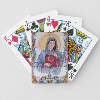 Saint Maria in catholic church Bicycle Playing Cards