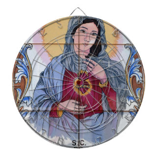 Saint Maria in catholic church Dartboard