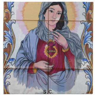Saint Maria in catholic church Napkin
