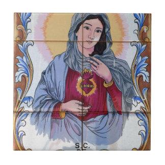 Saint Maria in catholic church Small Square Tile