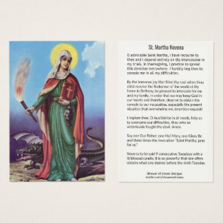 Saint Martha NINE WEEK HOLY CARD
