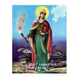SAINT MARTHA ORIGINAL DRAGON LADY POSTCARD