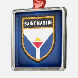 Saint Martin Flag Metal Ornament