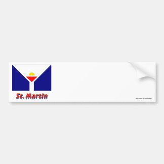 Saint Martin Flag with Name Bumper Sticker