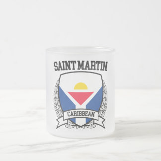 Saint Martin Frosted Glass Coffee Mug