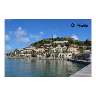 Saint Martin (St. Maarten) Coast photo Poster