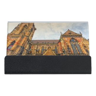 Saint Martin's Church, Colmar, France Desk Business Card Holder