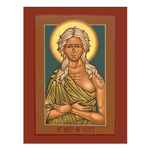 Saint Mary of Egypt Prayer Card Postcards