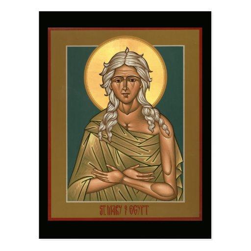 Saint Mary of Egypt Prayer Card Post Cards