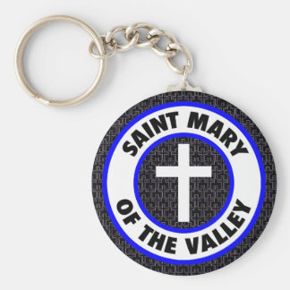 Saint Mary of the Valley Basic Round Button Key Ring