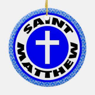 Saint Matthew Ceramic Ornament