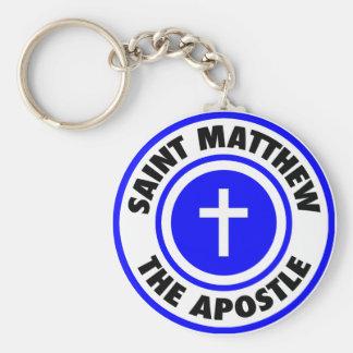 Saint Matthew the Apostle Basic Round Button Key Ring