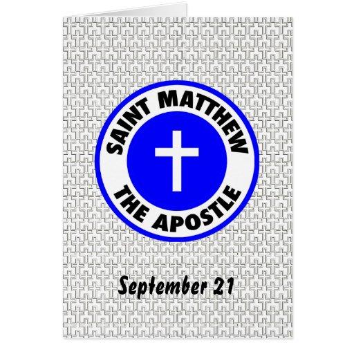 Saint Matthew the Apostle Cards