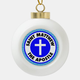 Saint Matthew the Apostle Ceramic Ball Decoration