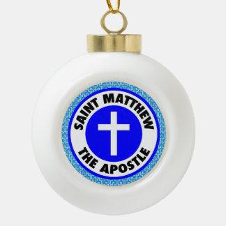 Saint Matthew the Apostle Ceramic Ball Decoration