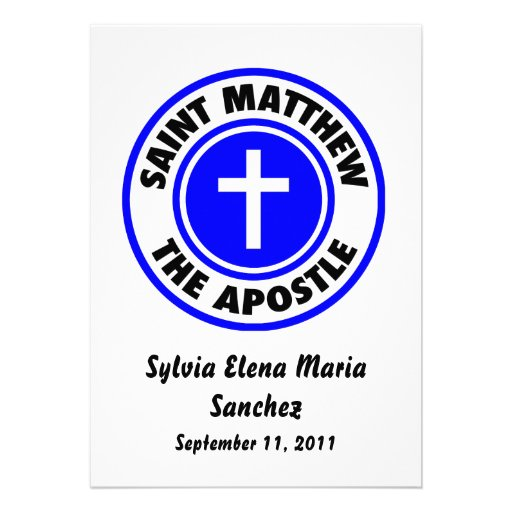 Saint Matthew the Apostle Invite
