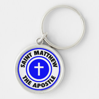 Saint Matthew the Apostle Silver-Colored Round Key Ring