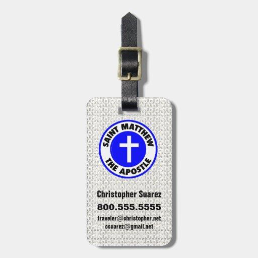 Saint Matthew the Apostle Bag Tags