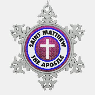 Saint Matthew the Apostle Pewter Snowflake Decoration