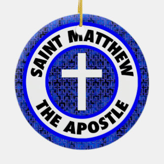 Saint Matthew the Apostle Round Ceramic Decoration