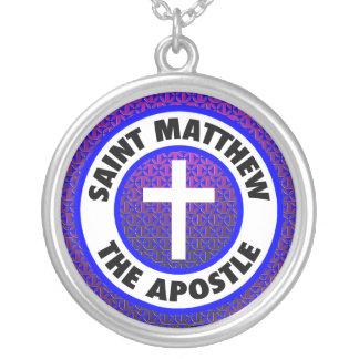 Saint Matthew the Apostle Round Pendant Necklace