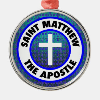 Saint Matthew the Apostle Silver-Colored Round Decoration