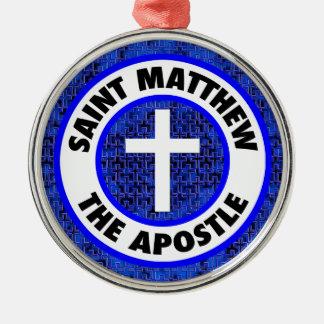 Saint Matthew the Apostle Silver-Colored Round Decoration