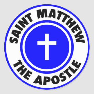 Saint Matthew the Apostle Round Sticker