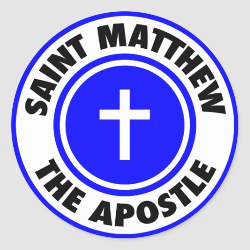 Saint Matthew the Apostle Round Sticker