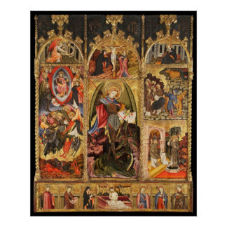 Saint Michael Altarpiece The ArchAngel Poster