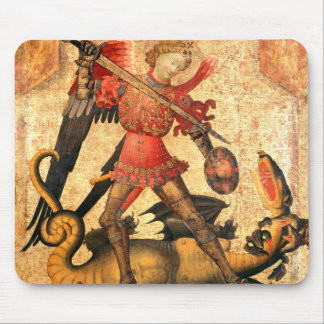 Saint Michael and the Dragon (15th Century) Mouse Pad