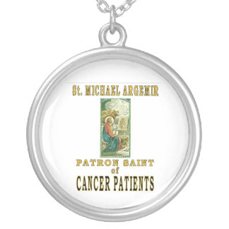 SAINT MICHAEL ARGEMIR SILVER PLATED NECKLACE