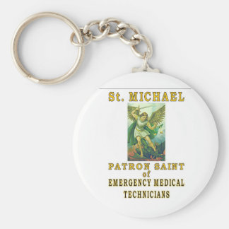 SAINT MICHAEL BASIC ROUND BUTTON KEY RING