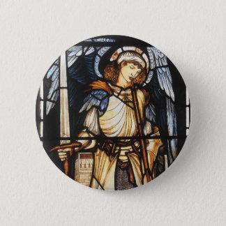 Saint Michael by Burne Jones, Vintage Archangel 6 Cm Round Badge