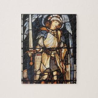 Saint Michael by Burne Jones, Vintage Archangel Jigsaw Puzzle