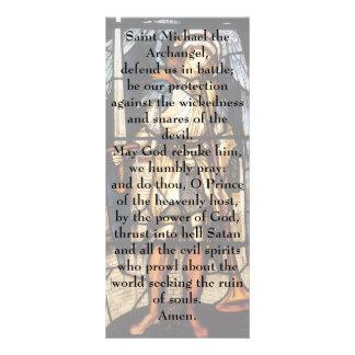 Saint Michael by Burne Jones, Vintage Archangel Customized Rack Card