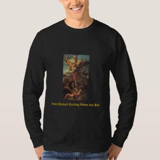 Saint Michael Casting Satan into Hell T-Shirt
