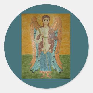 Saint Michael Classic Round Sticker
