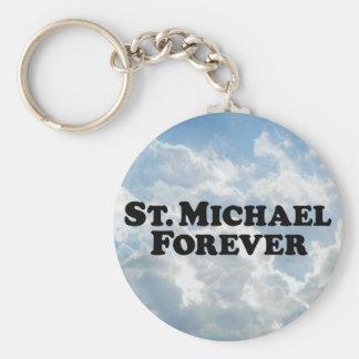 Saint Michael Forever - Basic Basic Round Button Key Ring