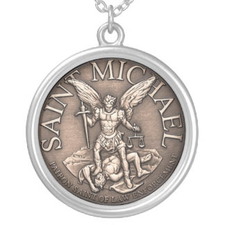 Saint Michael Pendent Round Pendant Necklace