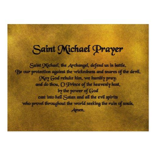 Saint Michael Postcard