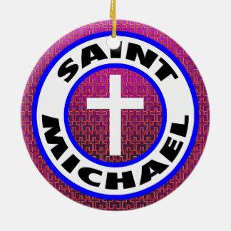 Saint Michael Round Ceramic Decoration