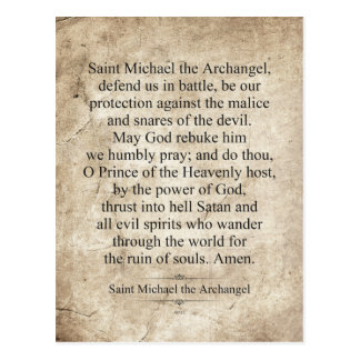 Saint Michael the Archangel Postcard