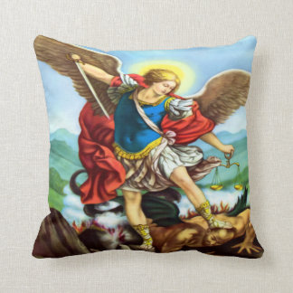 Saint Michael the Archangel Throw Pillow
