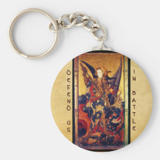 Saint Michael Vanquishing the Devil Key Ring