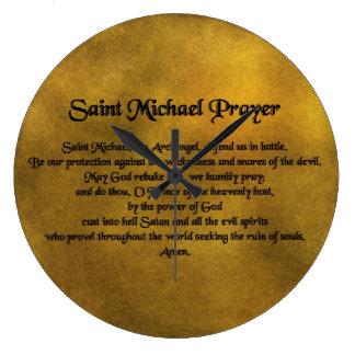 Saint Micheal Wall Clock