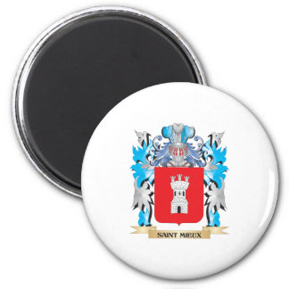 Saint-Mieux Coat of Arms - Family Crest Refrigerator Magnet